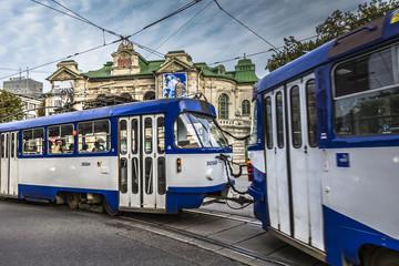 Trams remain the principal mode of transport in Riga