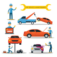 Mechanic and Car Maintenance Service, Automobile Check Up, Repair