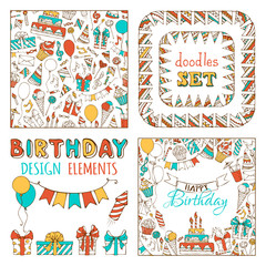 Doodles Happy Birthday Set.