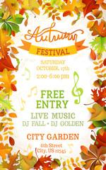 Fall Festival template.