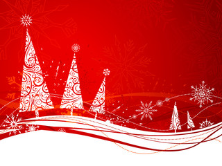 Red winter background.
