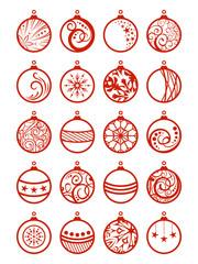 Set of Christmas balls.