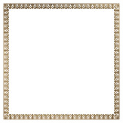 3d gold pattern.  Isolated over white background
