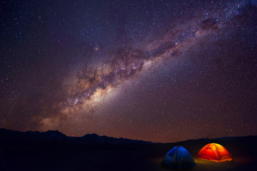 view beautiful milky way in nigh sky