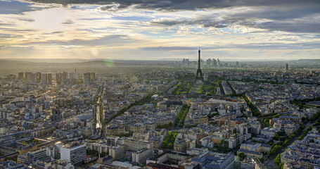 HDR Panoramic view  of Paris.