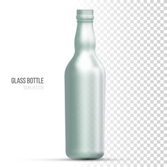 Template of glass bottles for liquid.