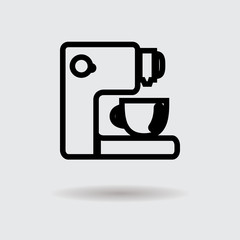 Flat coffee cup design icon