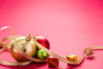 Christmas Decoration. Decoration with copy space.