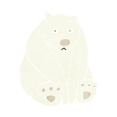 cartoon unhappy polar bear