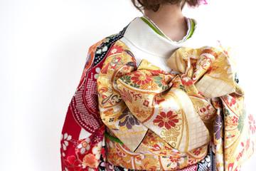 着物姿の女性 バックスタイル