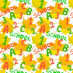 First September Education Seamless Pattern Concept Study Back to