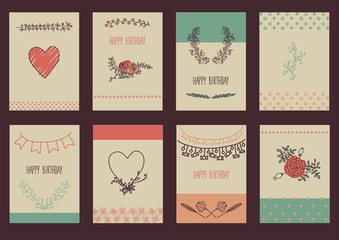 set of template design for greeting card.