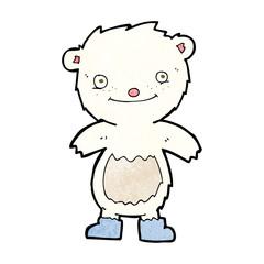 cartoon teddy polar bear wearing boots