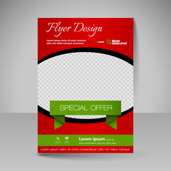 Site layout for design - flyer
