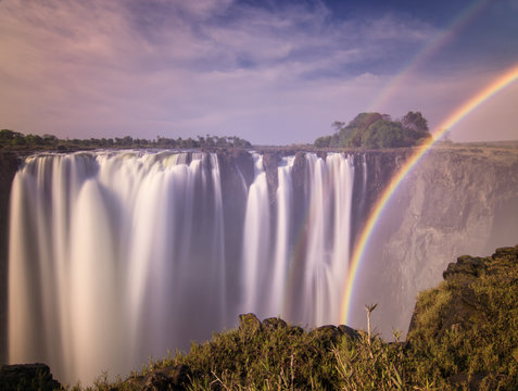 A rainbow at the Victoria Falls