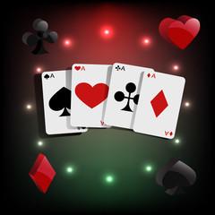 Casino element Poker cards  eps 10