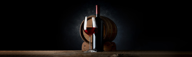 Autocollant pour porte Vin Composition with wine