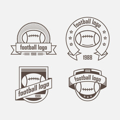 set of logos from sports equipment