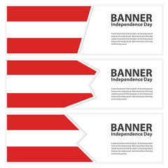 austria  Flag banners collection independence day
