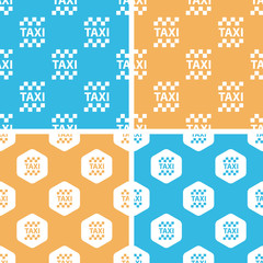 Taxi pattern set, colored