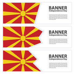 macedonia  Flag banners collection independence day