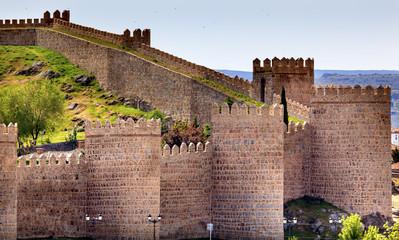 Avila Castle Walls Ancient Medieval City Castile