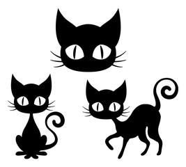 ハロウィン:黒猫セット