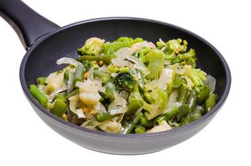 Овощная смесь на сковороде