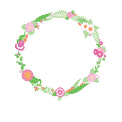 Wedding colorful flower Wreath.