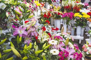 Flower market in Riga, Latvia