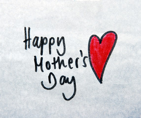 happy mothers day note
