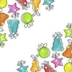 Photo sur Aluminium Hibou Christmas card with Christmas decorations
