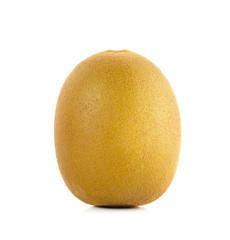 Yellow gold kiwi fruit isolated on the white background