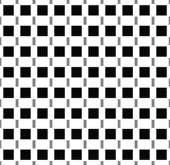 Squares seamlessly repeatable pattern in black and white.