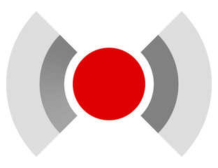 Red target mark, crosshair, reticle graphics. Vector.