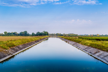 channel for irrigation of cultivated fields