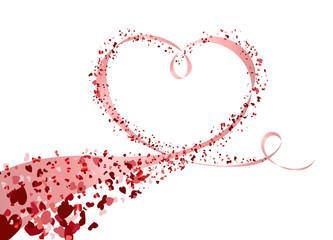 Banderole Herzform