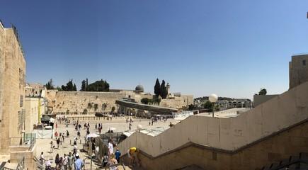 Il Muro del Pianto dall'ingresso alla piazza, Gerusalemme, Israele
