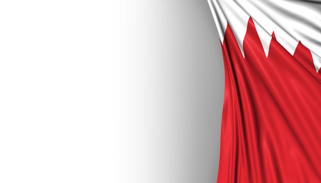 Bahrain Flag, Manama Background