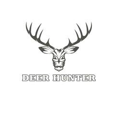 deer hunter vector design template