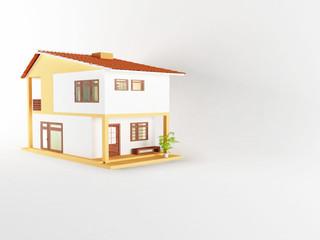 nice house with big windows,