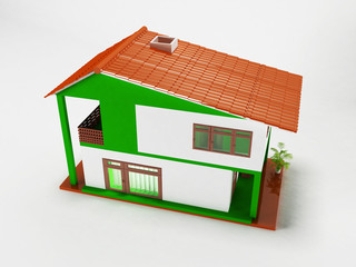 a nice house on a white background,