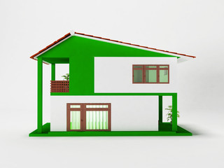 a simple two-story house