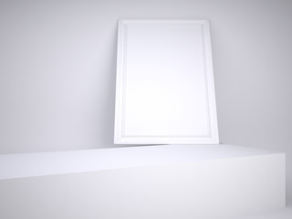 a white picture on the white background