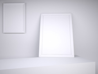 two white pictures on the white background,