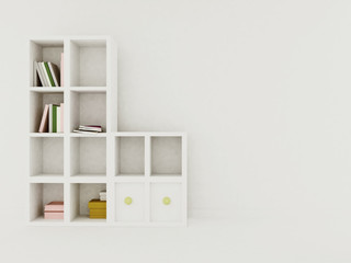 shelving on a white background