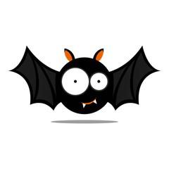 Vector Illustration of a Cute Halloween Bat