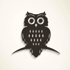 Vector Illustration of a Halloween Owl