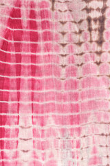 Abstract Background of  Red, Black,and Pink Tie and Dye Cloth.