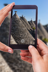 Photographing the trulli
